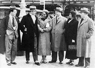 Hans Meissner, eingehakt bei Magda Spiegel (1934)